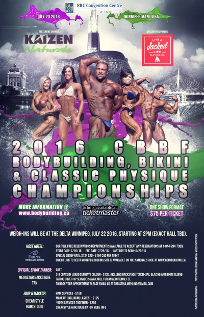2016 Bodybuilding, Bikini and Classic Physique Canadian Nationals
