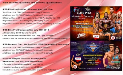 CBBF Pro Events Information